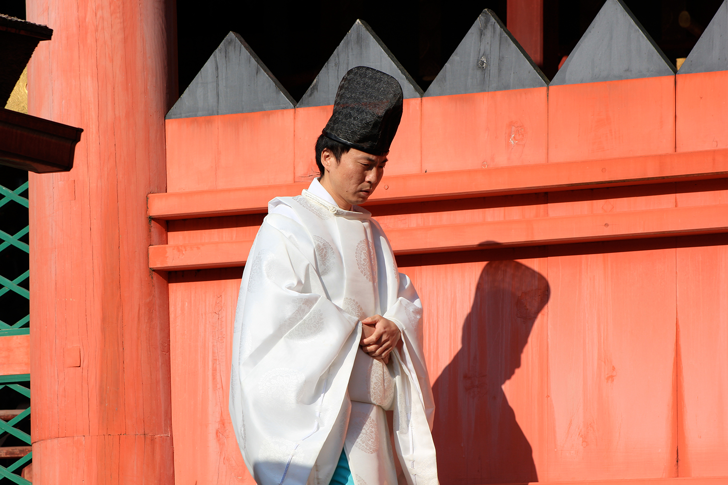 Shinto monk, Nara temple