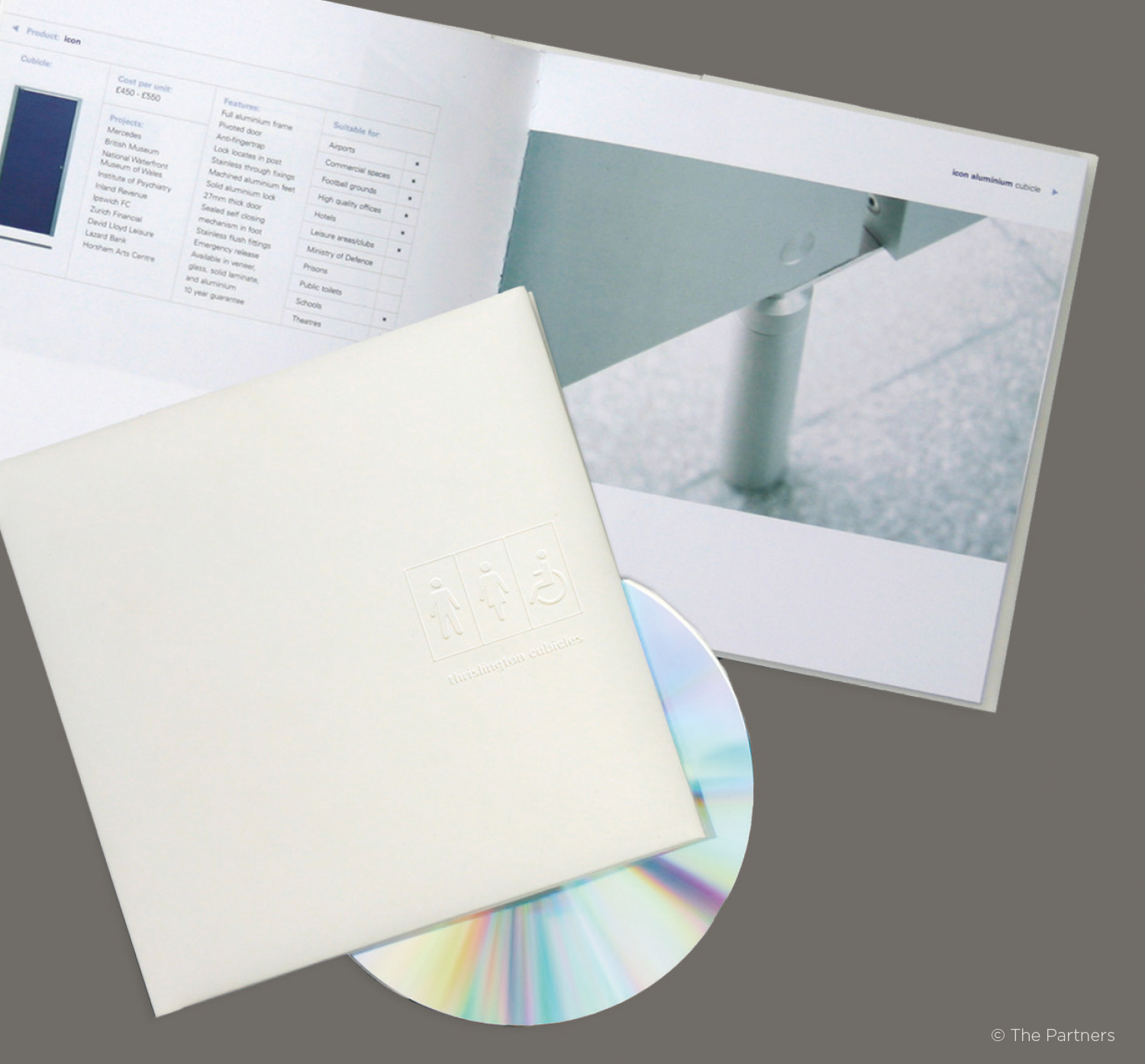 Mini-brochure – Formerly an A4 boxed set of product brochures and full specs. All the technical information went onto CD saving a fortune in production and postage, and inspiring a limited edition 'White Album' of products.