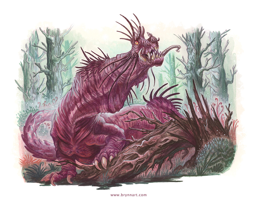 The Jabberwock, with eyes of flame, Came whiffling through the tulgey wood, And burbled as it came!