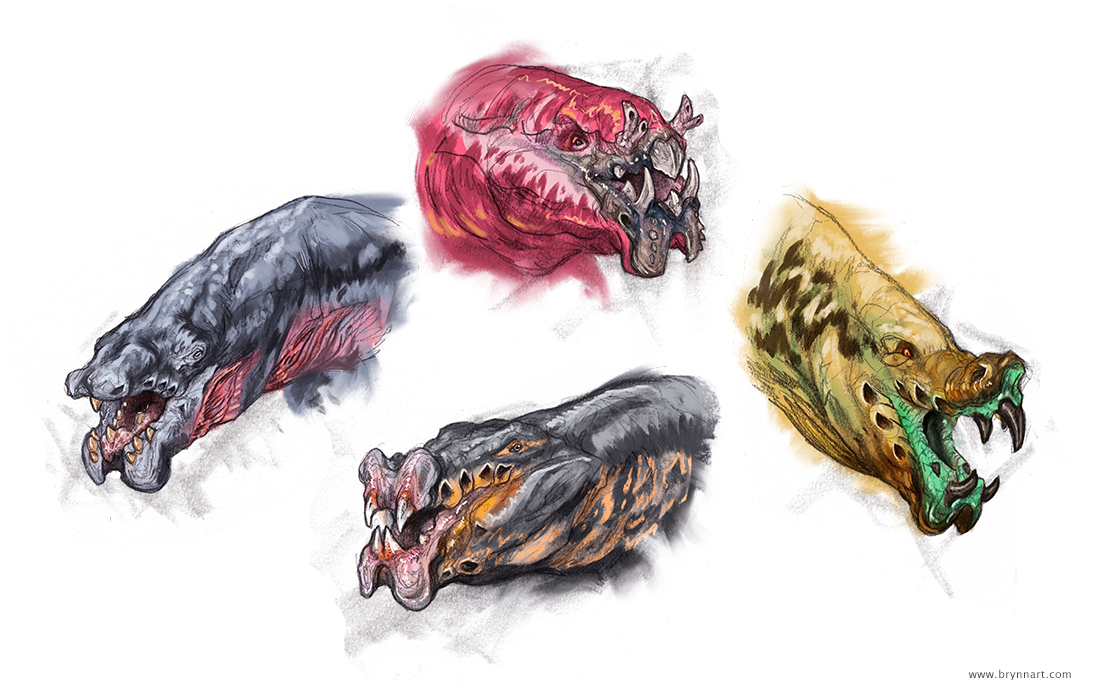 Pit Faces Creature Concepts  Personal Work