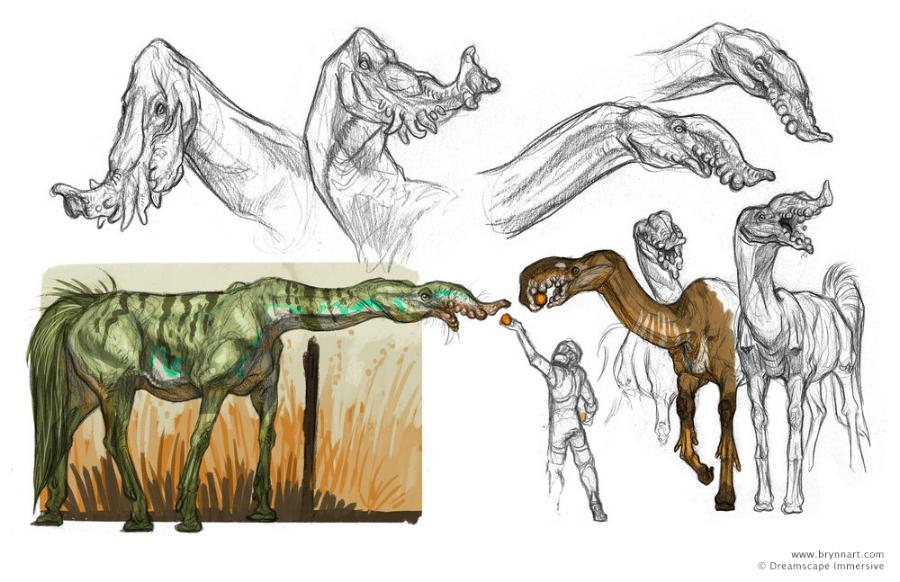 Trunk Horse Creature Concepts for Alien Zoo  Company: Dreamscape Immersive