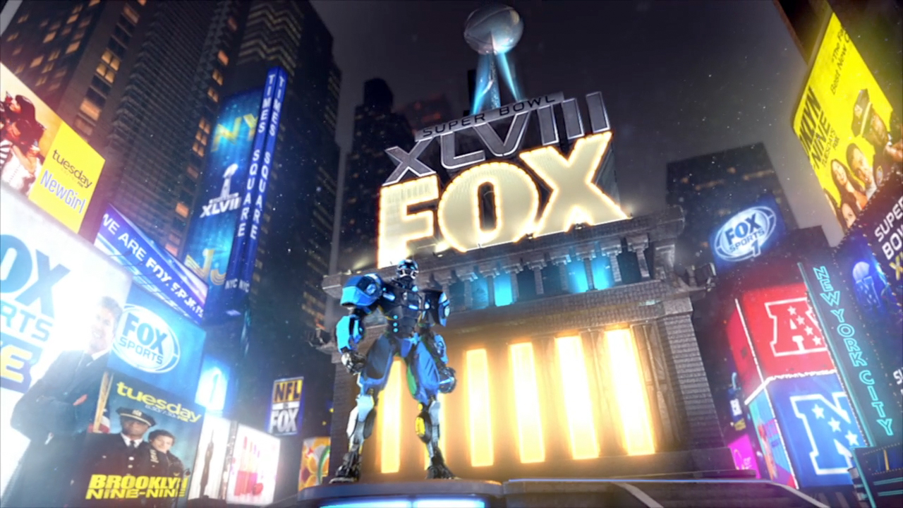 Super Bowl 48 | Opening Animation  Texturing, Lighting, Character and Camera animation.