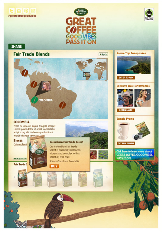 @vmyselfandi Green Mountain Coffee FB
