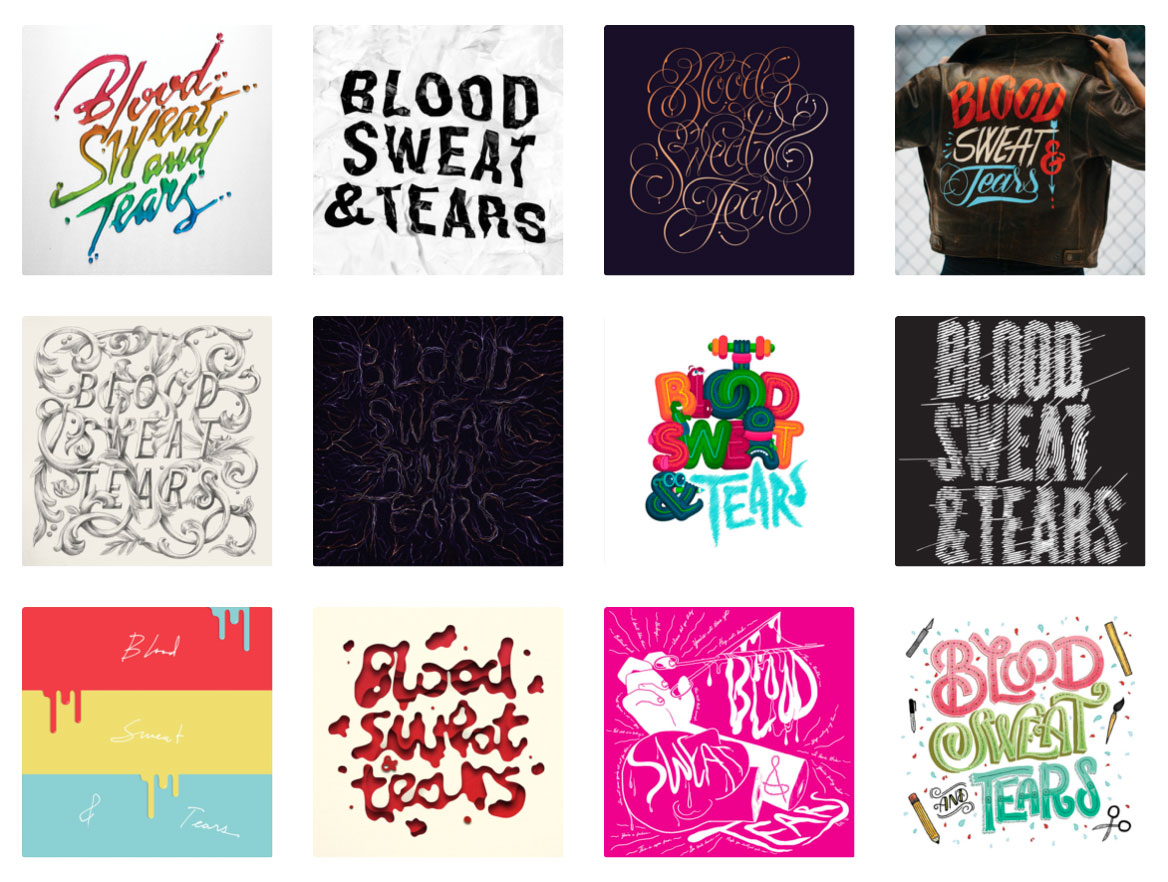 "We showcased the countless hours and ambitious drive that go into crafting the best creative work by asking 12 artists from the ADC community to give their interpretation of ""Blood, Sweat and Tears"". A  Tumblr page  was created to showcase their designs and support the campaign, and the art was leveraged in emails sent to budding creatives and agencies."