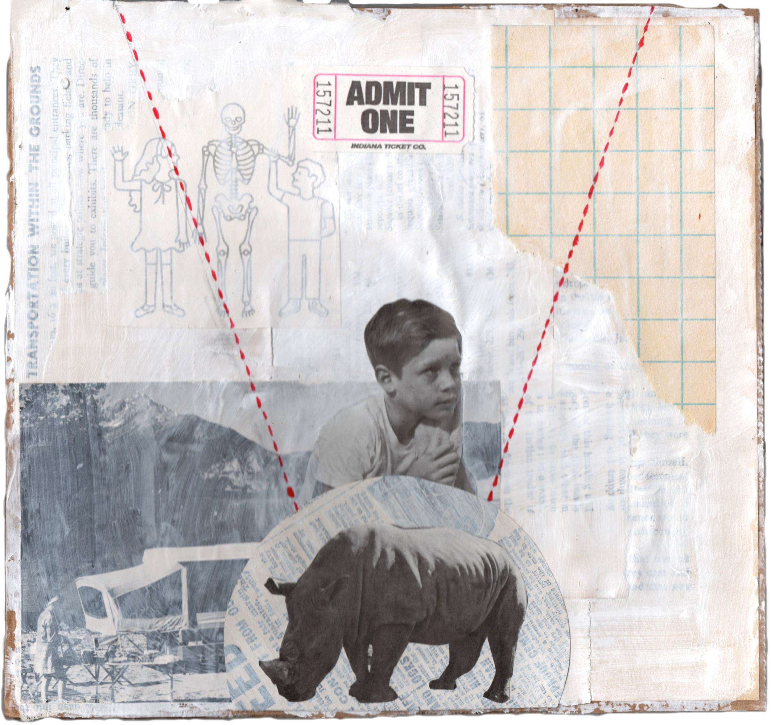 """Admit One,  2016 (8 1/2 x 8 3/4"""")"""