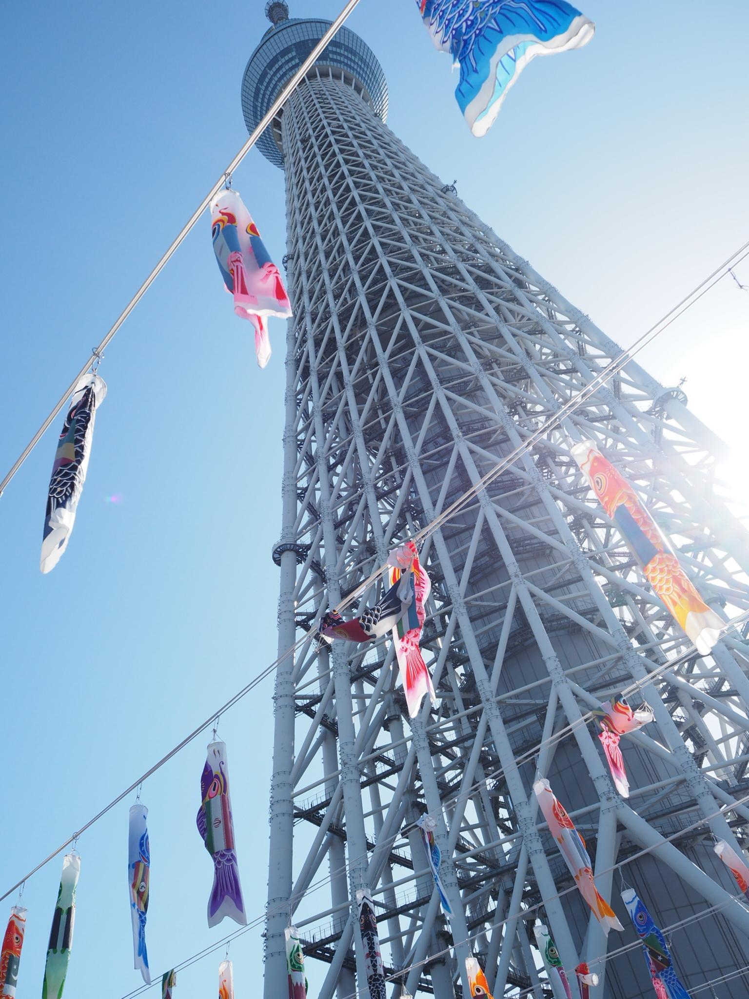 Koinobori at Tokyo Skytree