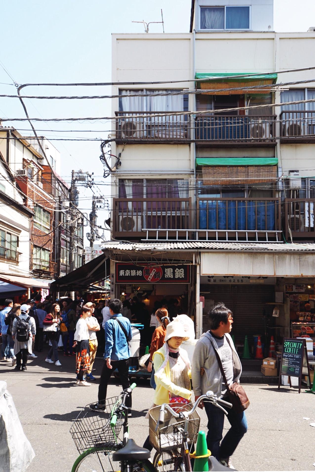 Alleys of Tsukiji Fish Market