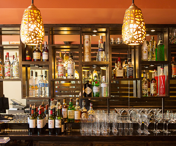 The restaurant features a full bar with a globally-inspired wine list by consulting sommelier John Slover.