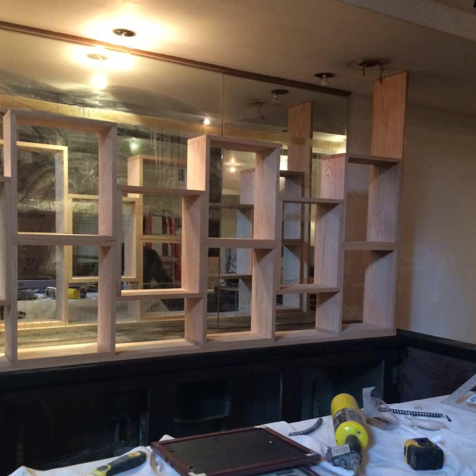 New bar shelving has been built!