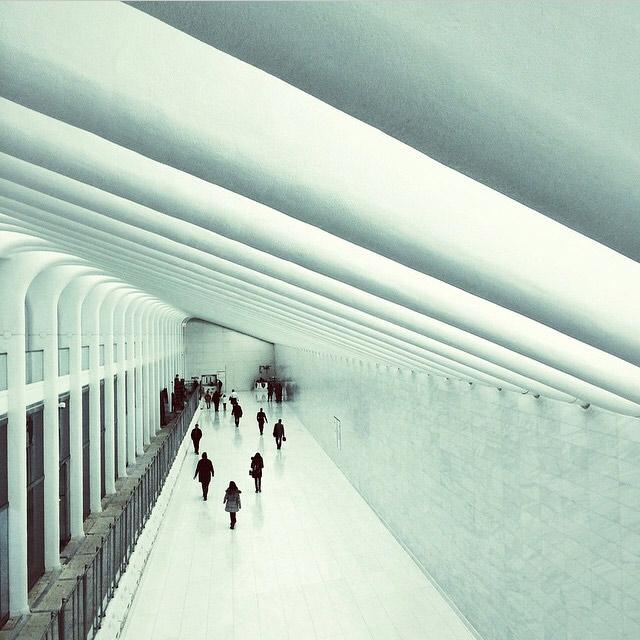 World Trade Center PATH Pedestrian Tunnel Image via  @jungletimer  on Instagram