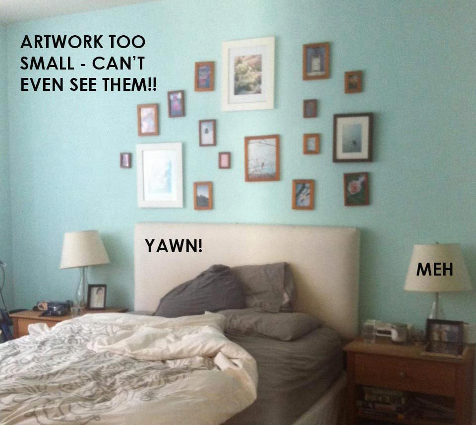Lisa S Bedroom Mini Makeover Part 2 Building A Better Gallery Wall Ms Weatherbee