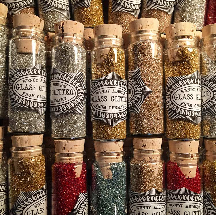 Who doesn't love a shop that sells glass vials of glitter!?Image via  @lweatherbee .