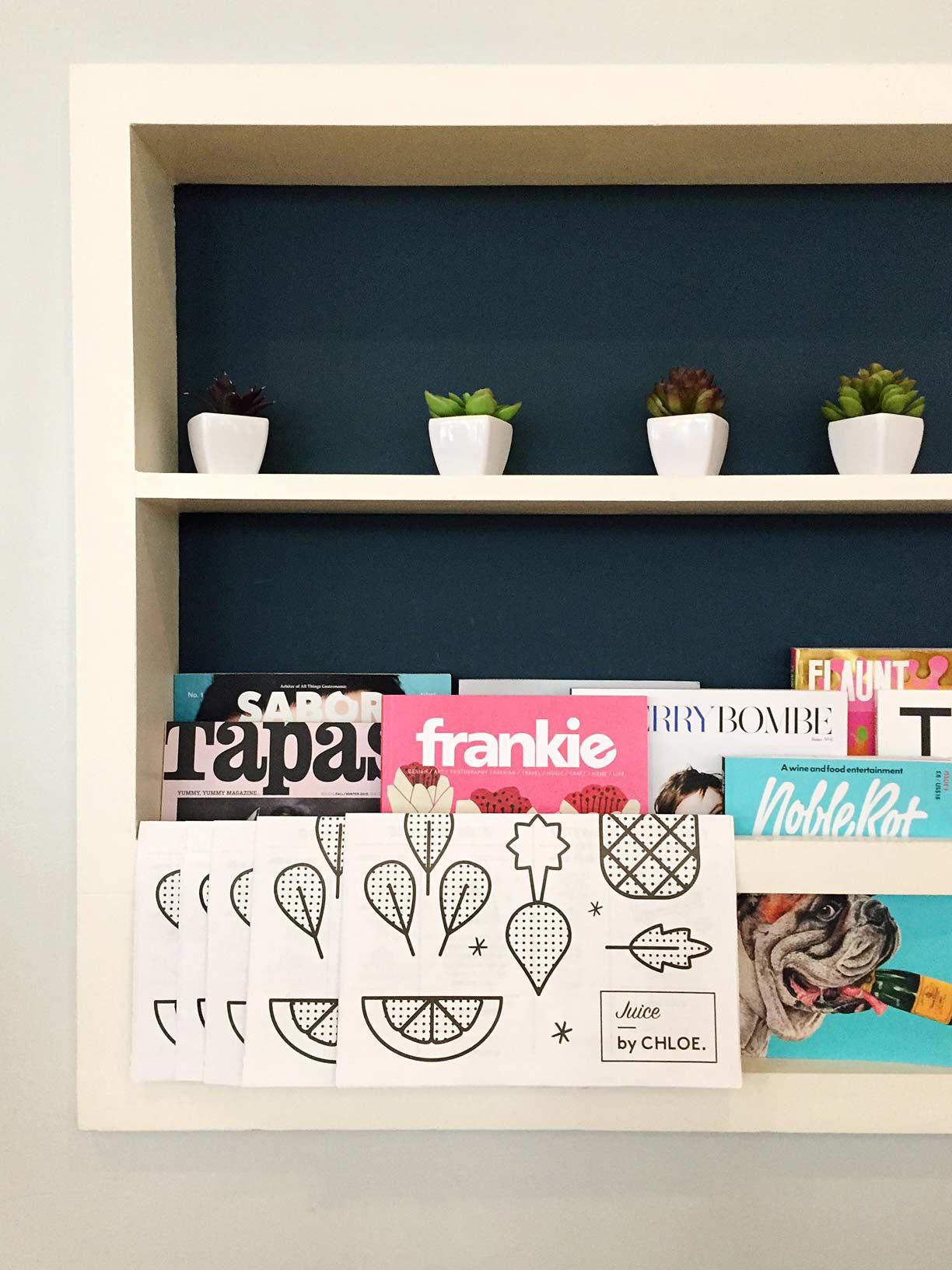 Magazine rack. Image via  @lweatherbee