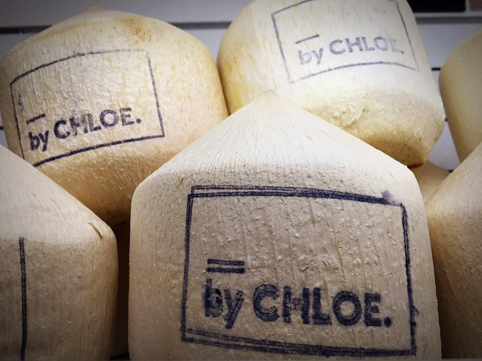 Branded coconuts.Image via  @lweatherbee
