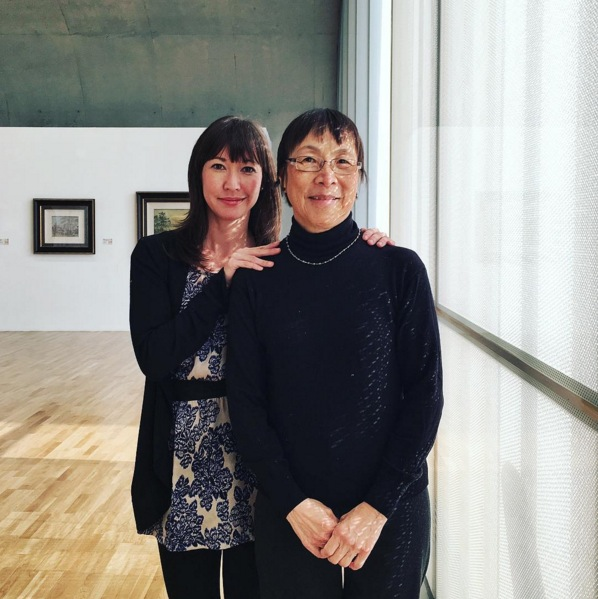 Me and my mom at the Long Museum in Shanghai. Image via  @jungletimer