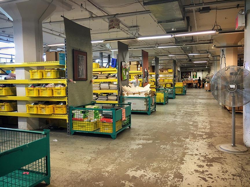 The 35,000 sq ft warehouse.Image via  @lweatherbee