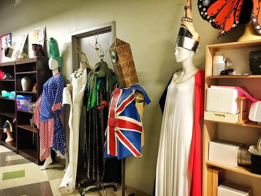 Students are invited to get creative and design costumes using unconventional and discarded goods.Image via  @lweatherbee