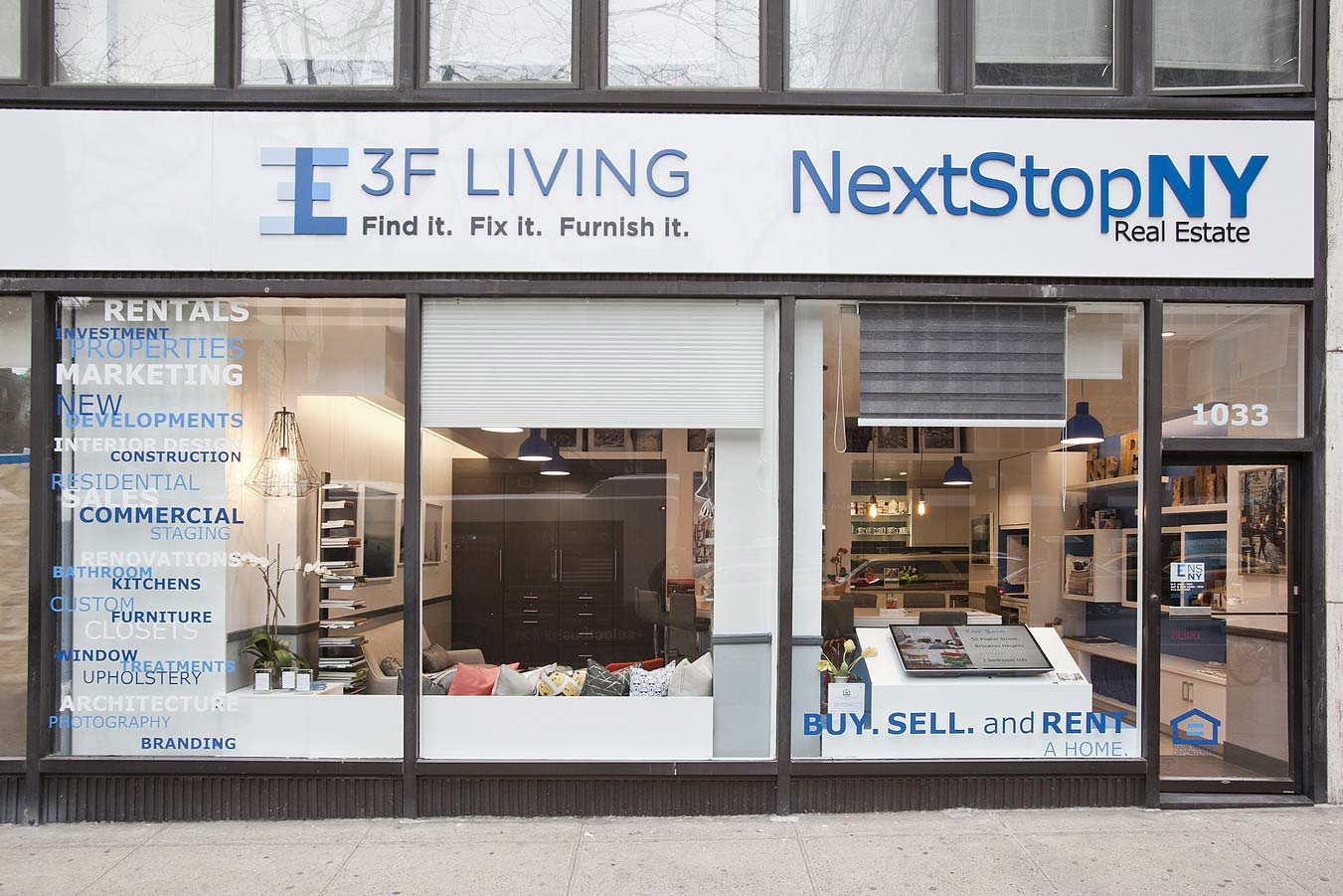 The NextStopNY and 3F Living joint showroom.