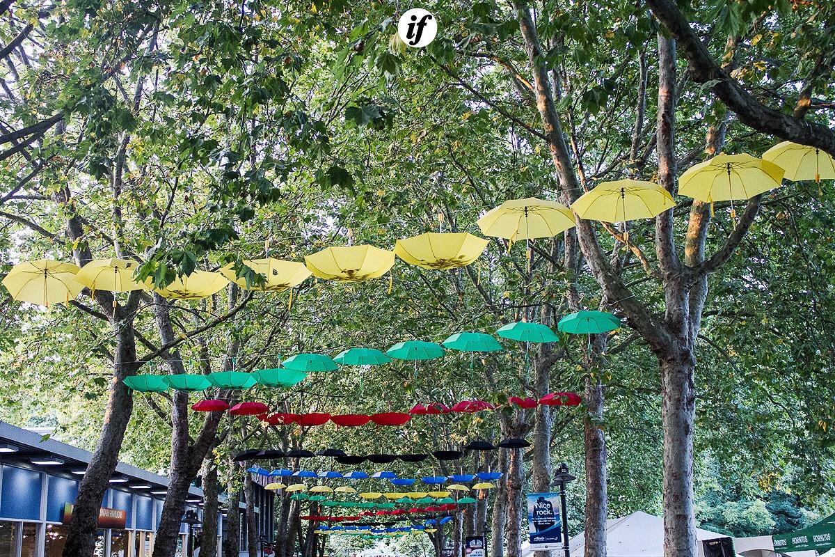 Umbrellas - photo by Interracial Friends