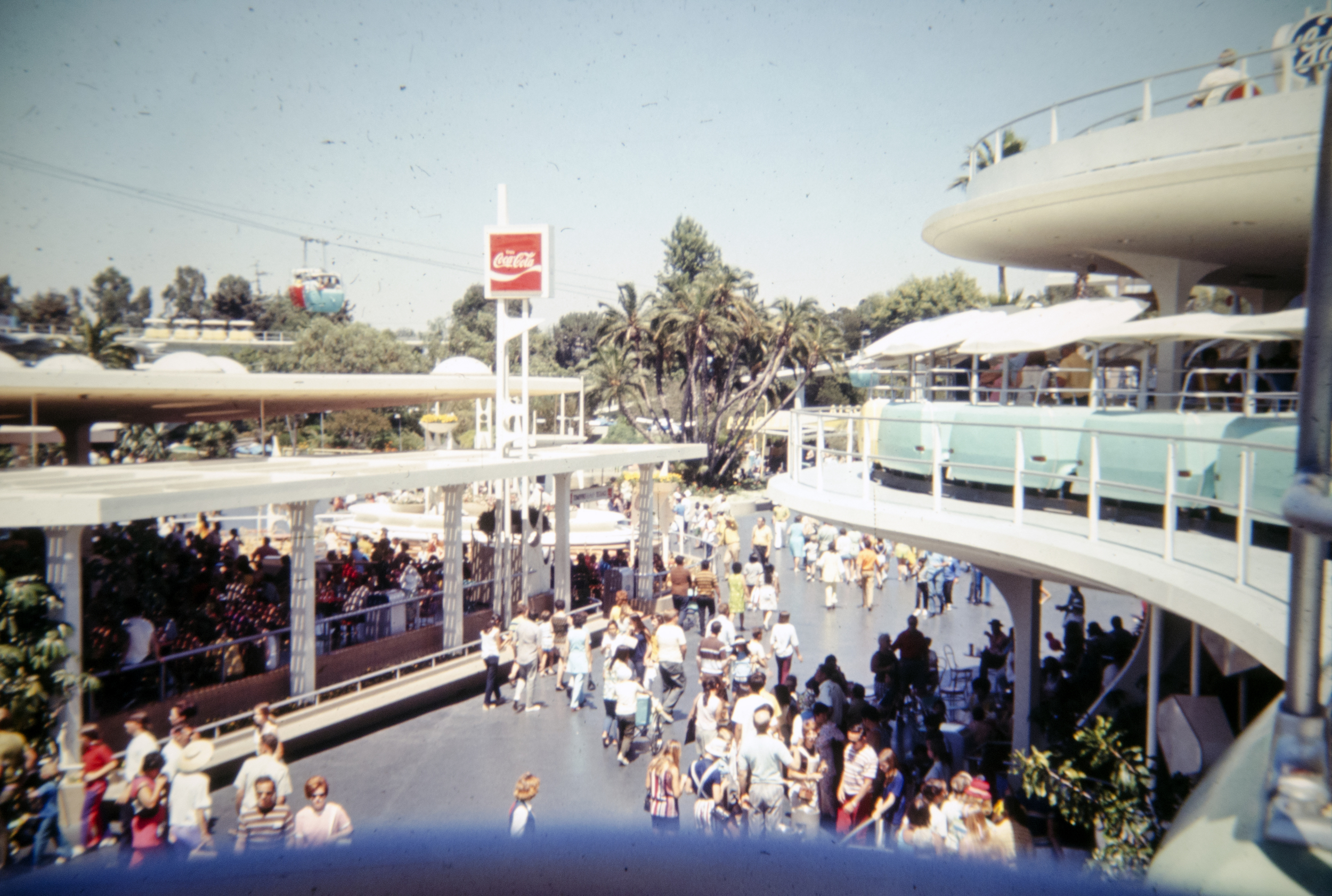 People Mover Over Tomorrowland