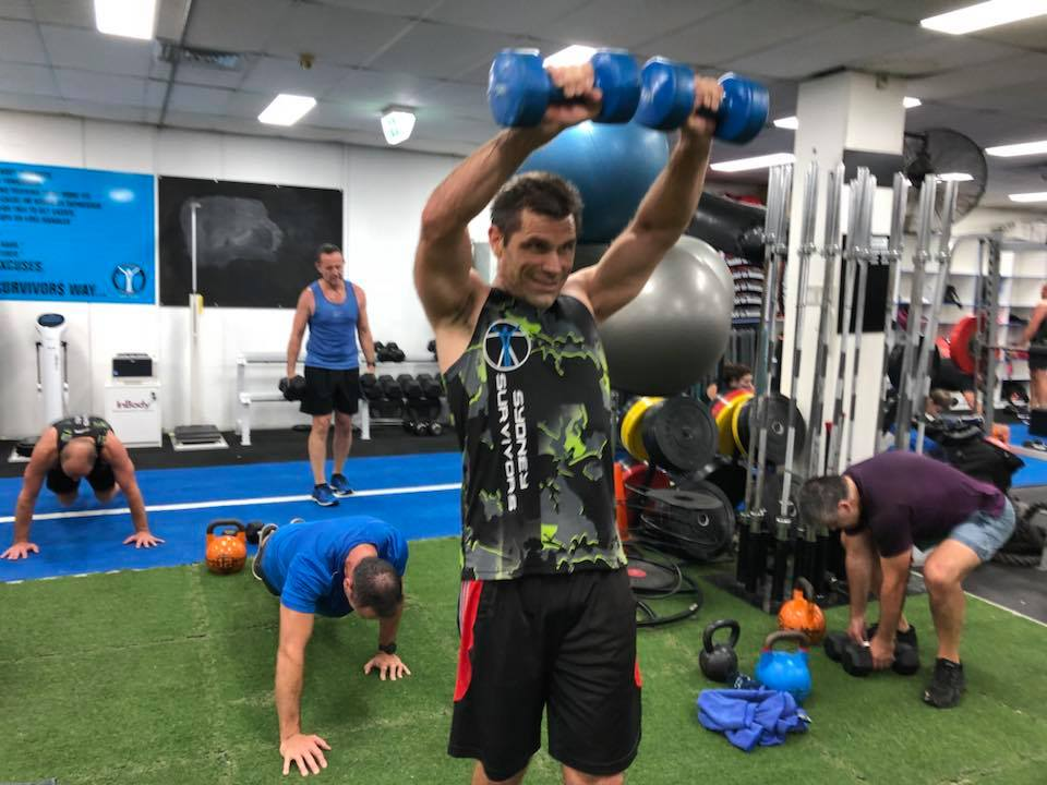 Erick working that upper body