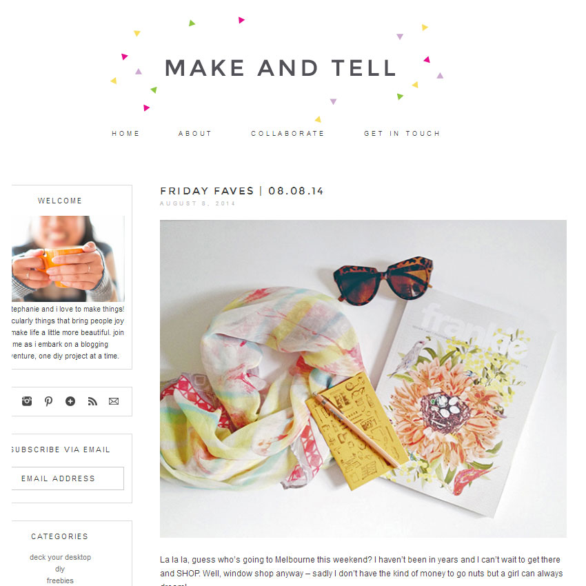 Make and Tell
