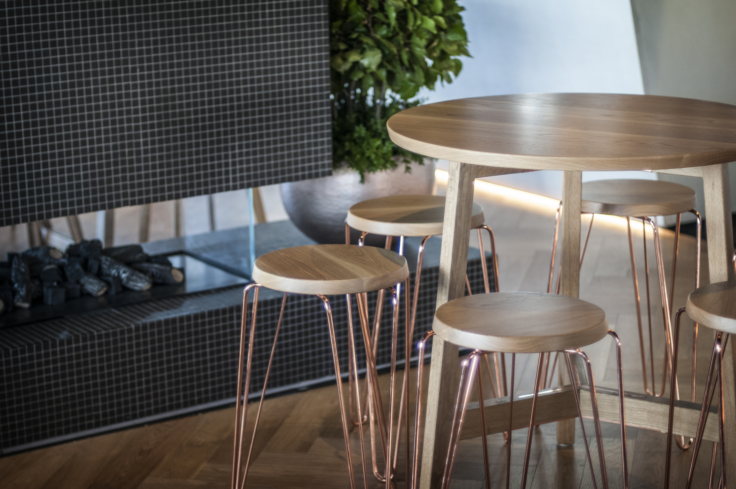 Picture of: 2kw Copper Bar Stools Low Stools And Custom Table Design Tuckbox
