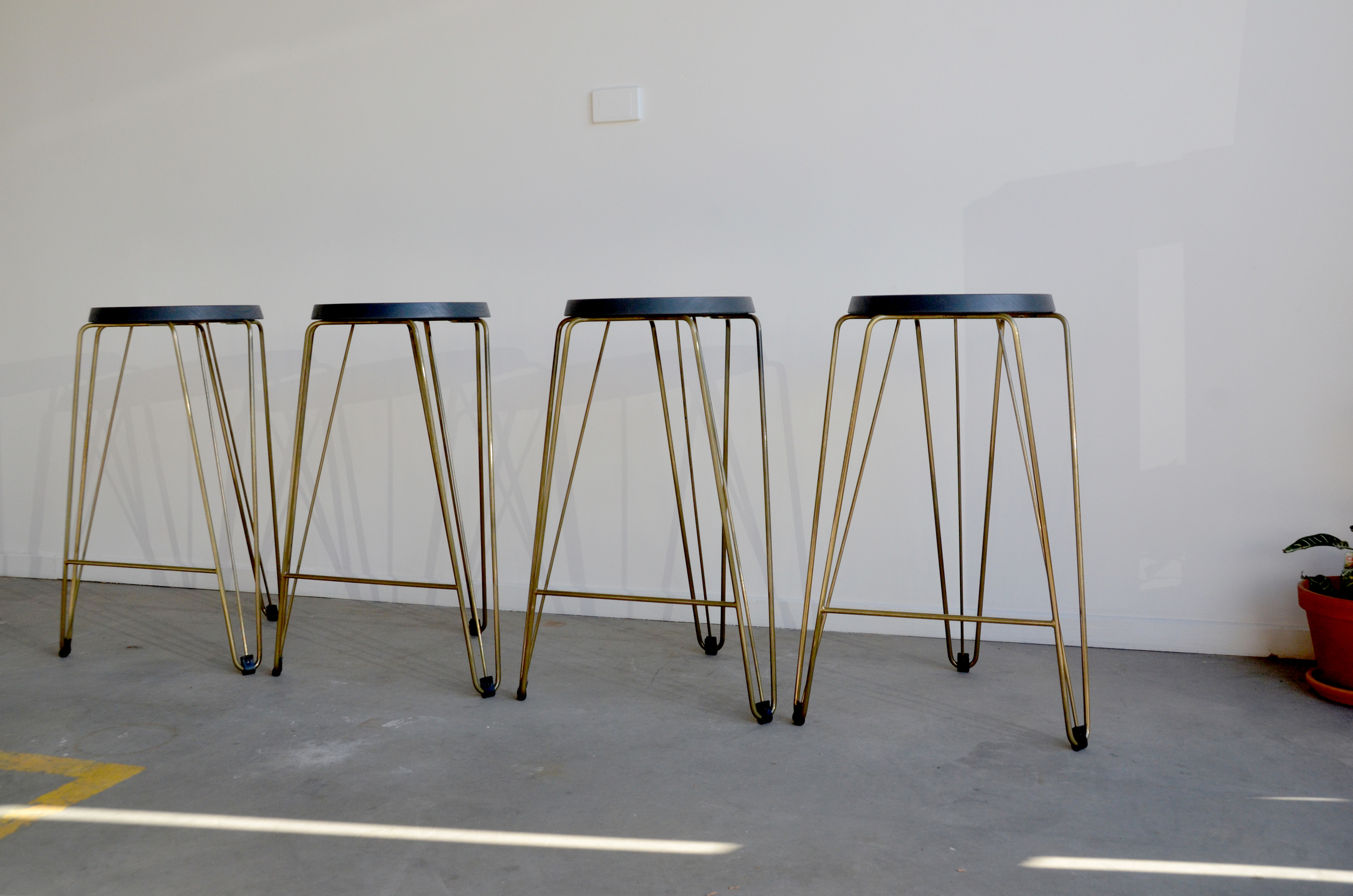 Tuckbox Design Rex/Lozenge bar stools