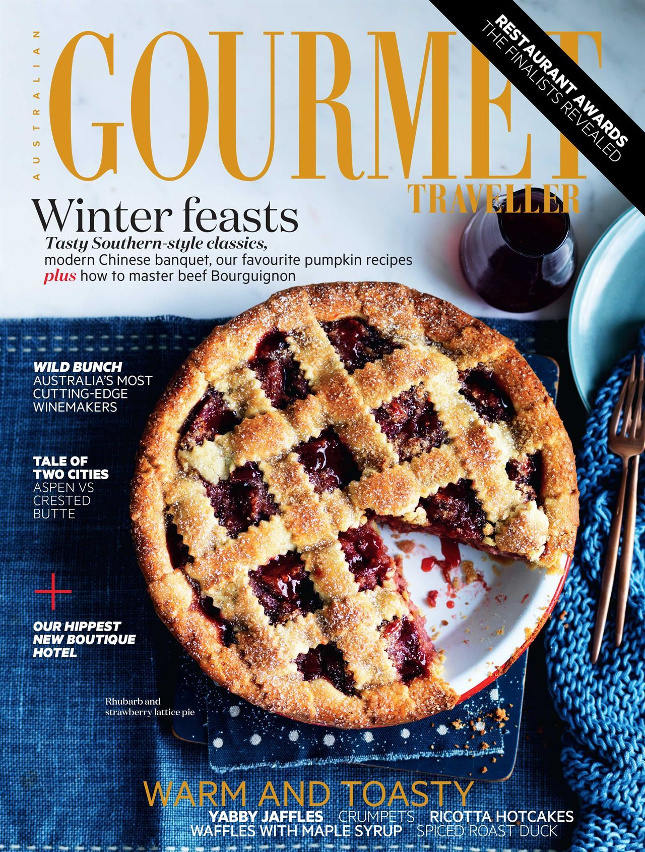 Tuckbox Design in August Gourmet Traveller