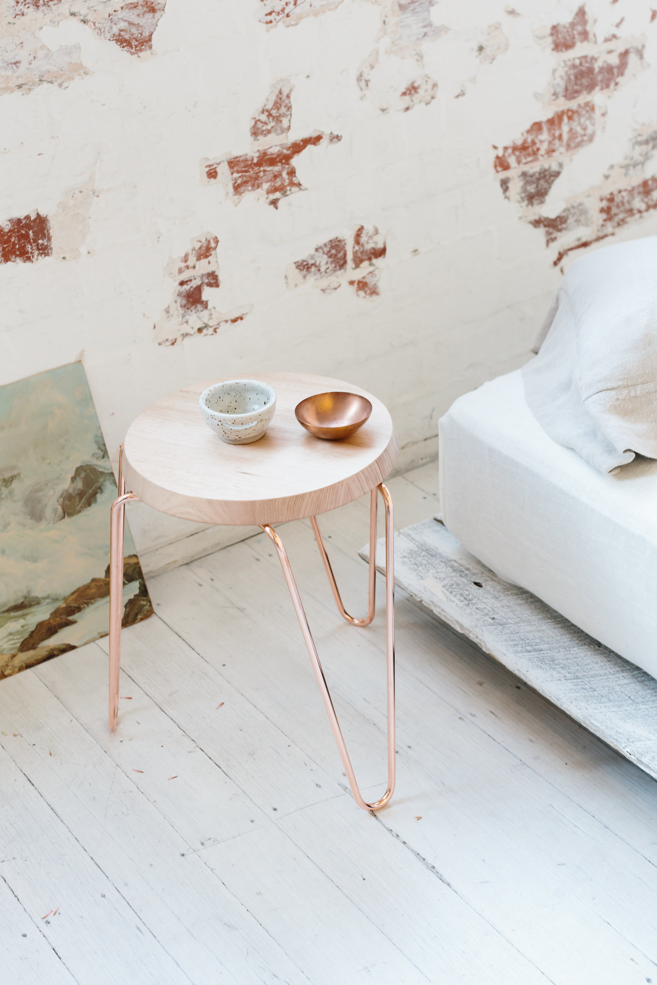 Tuckbox Copper Stool