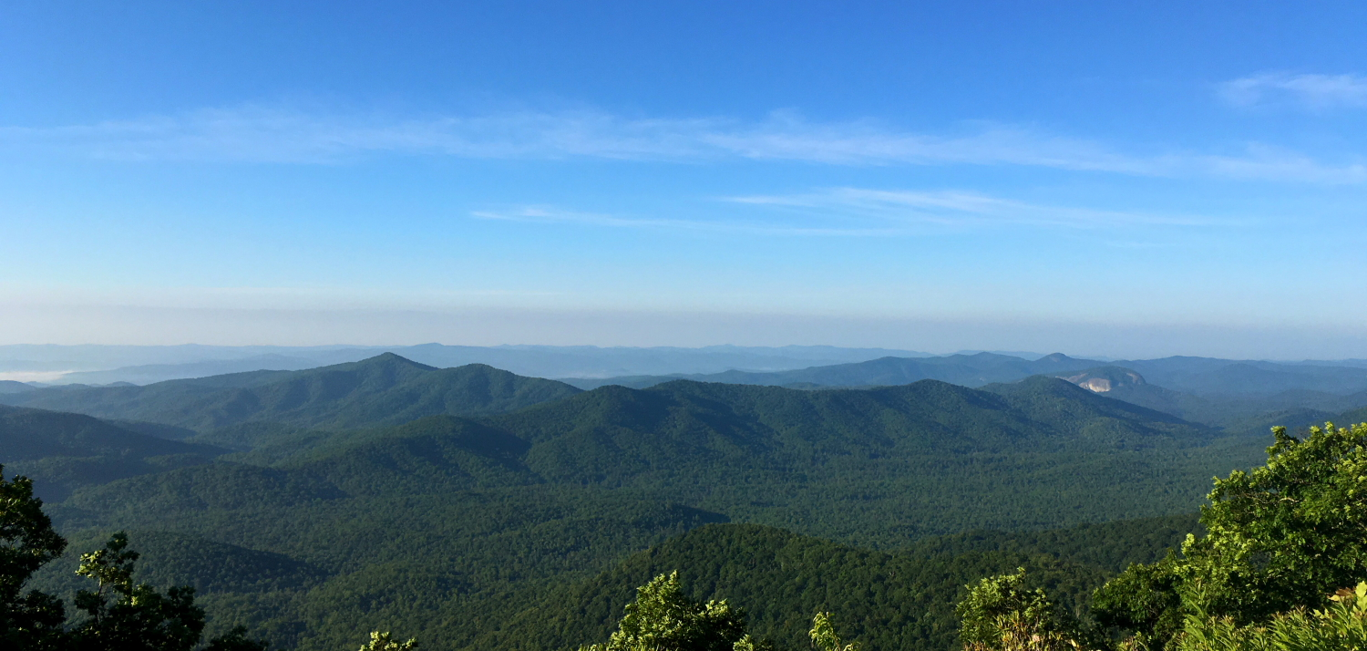 Blue Ridge Mountains from the Blue Ridge Parkway on June 25, 2016