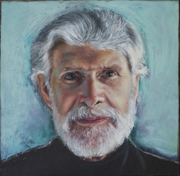 Dr Howard Ralph, beeswax & oil on board, ©Stephanie Galloway Brown