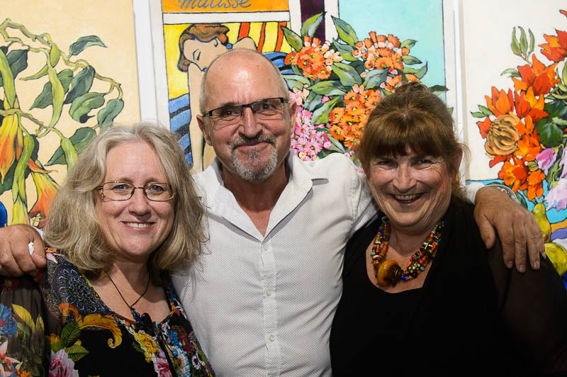 Stephanie Galloway Brown, John ogden & Mignon Parker at Trilogy Exhibition opening night. Image courtesy of  Michael Mannington.