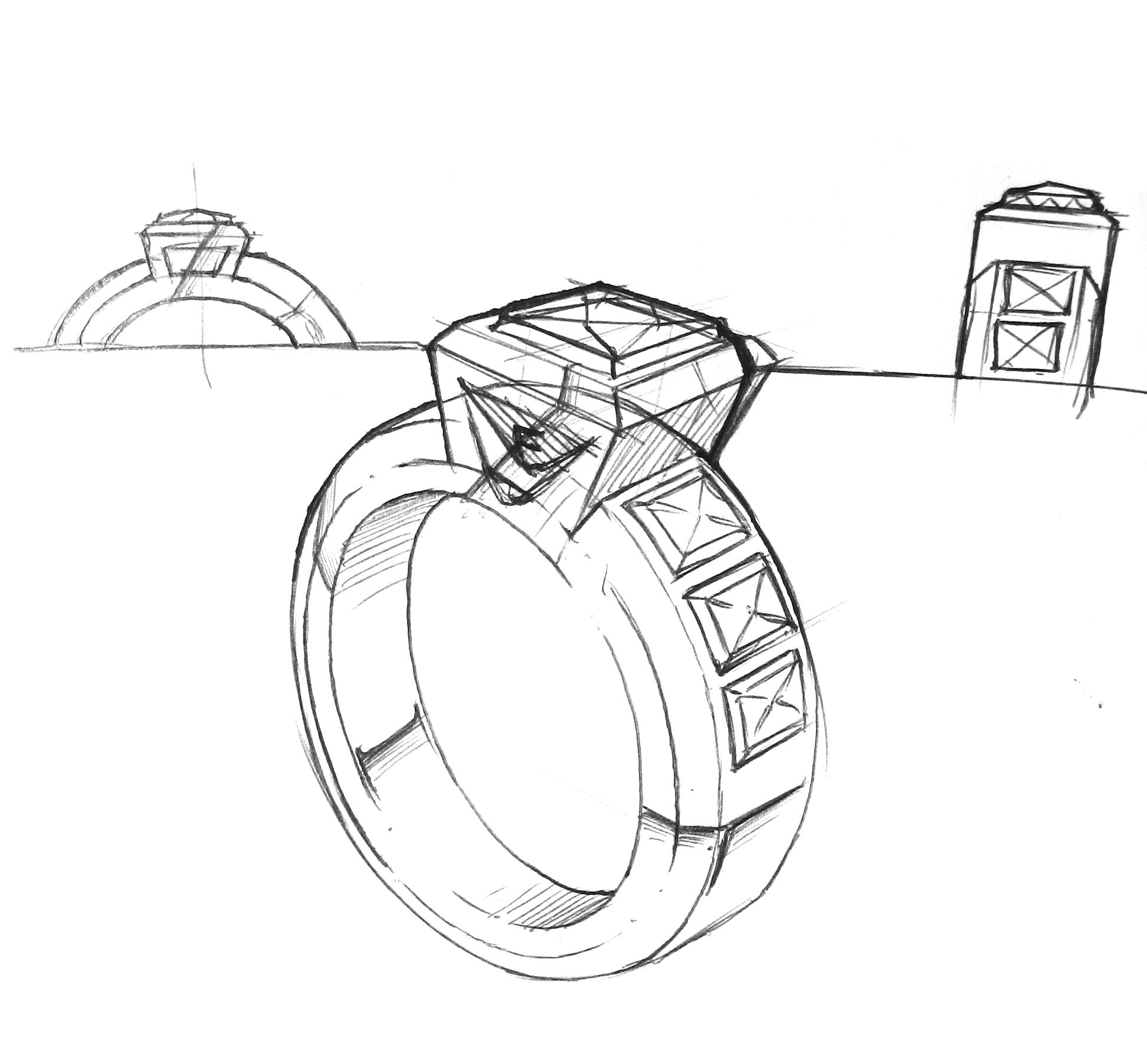 Engagement Ring Sketch
