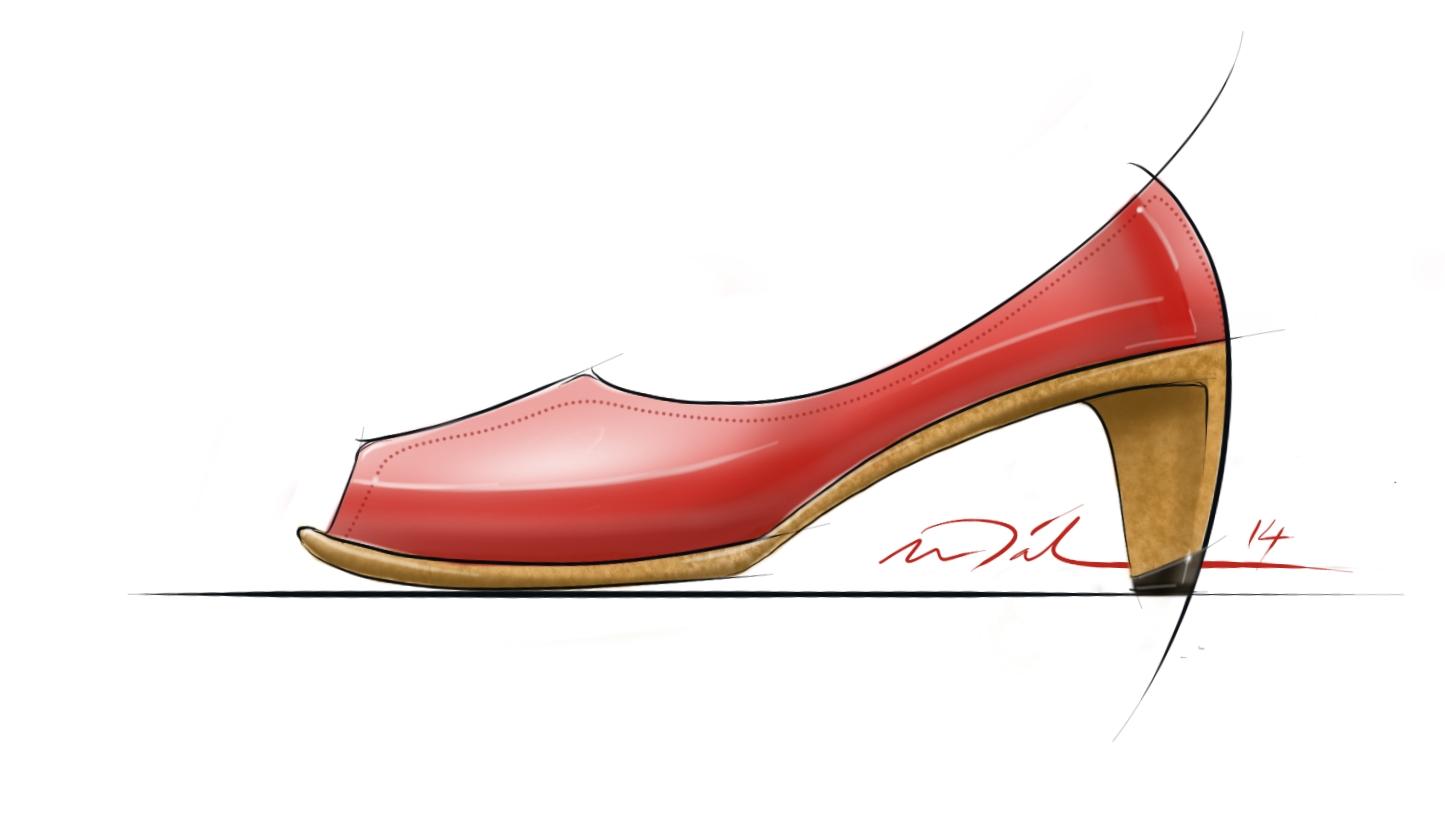 Women's Fashion Shoe Design Sketch