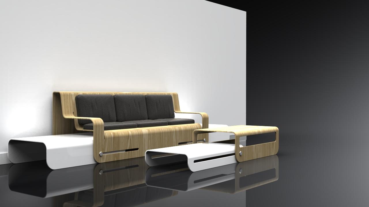 Side Slide Dropwood Lounge