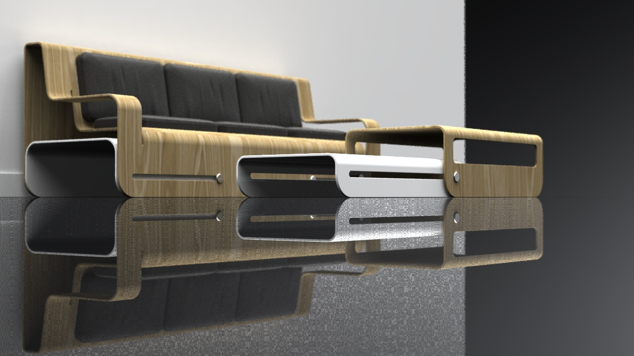 Side Slide (White) Dropwood Coffee Table