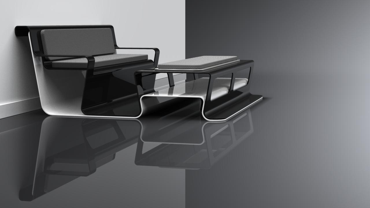 Black Lounge Table Concept