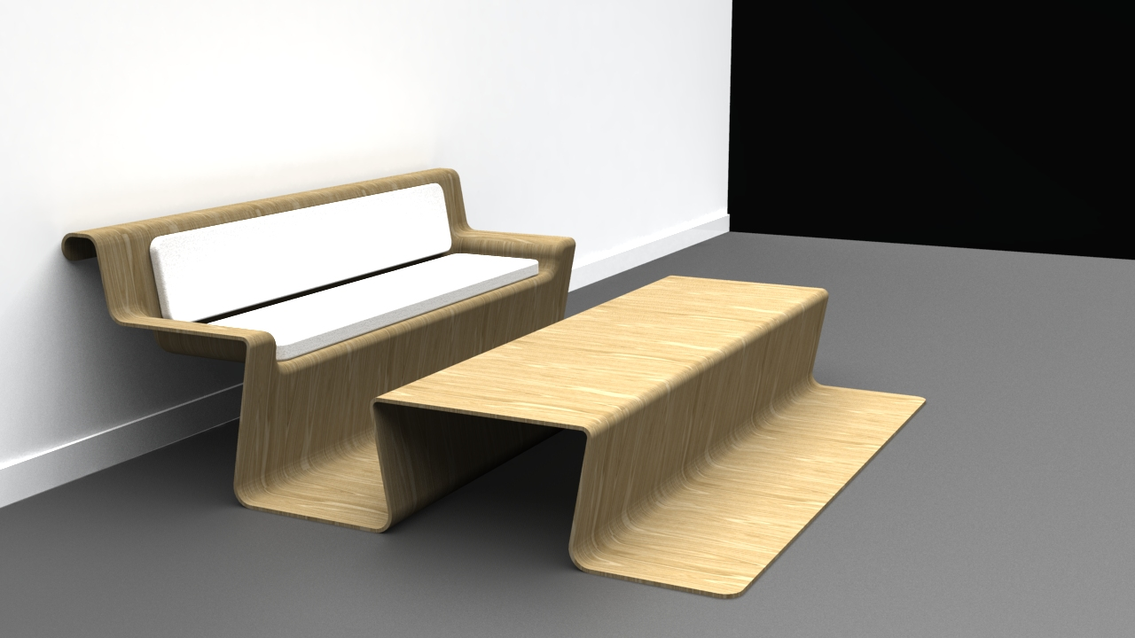 Dropwood Lounge Table Concept