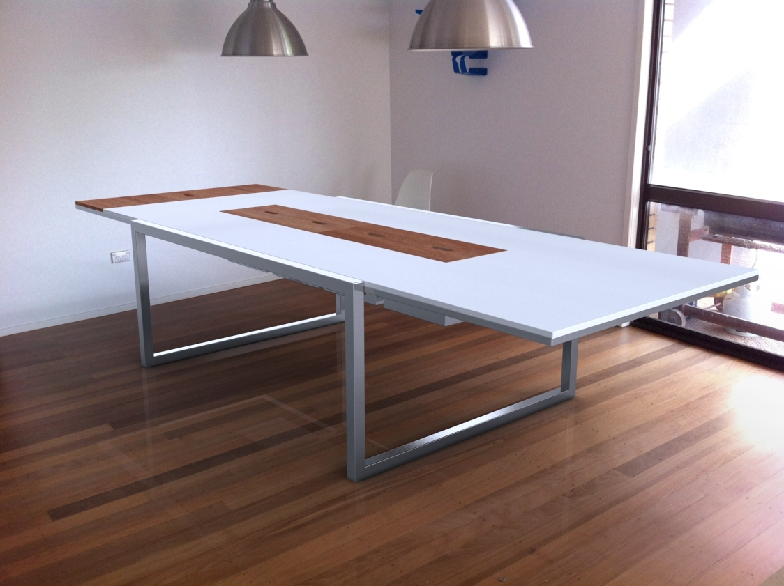 Festable Brushed Stainless Steel Dining Table