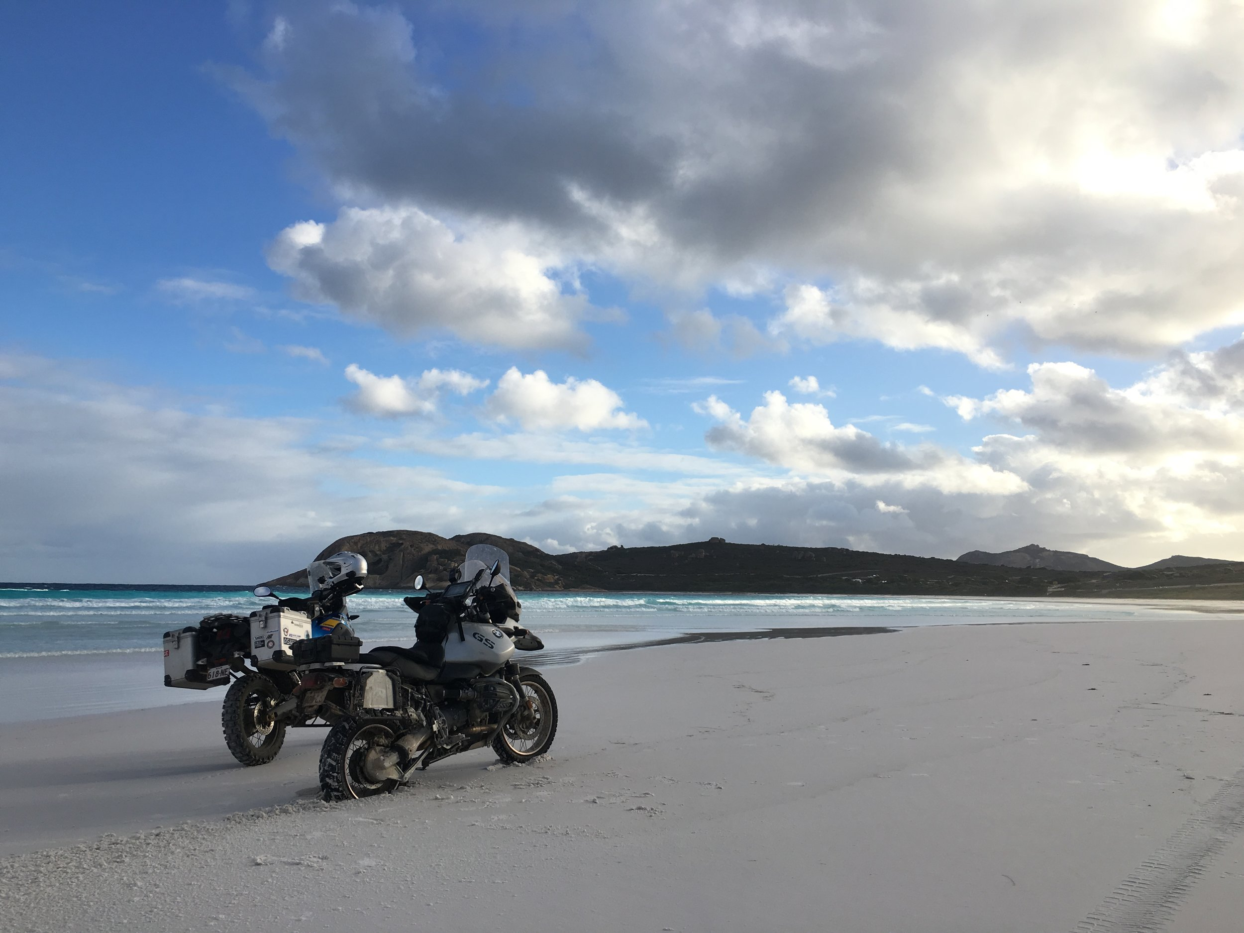 Bikes on Lucky Bay