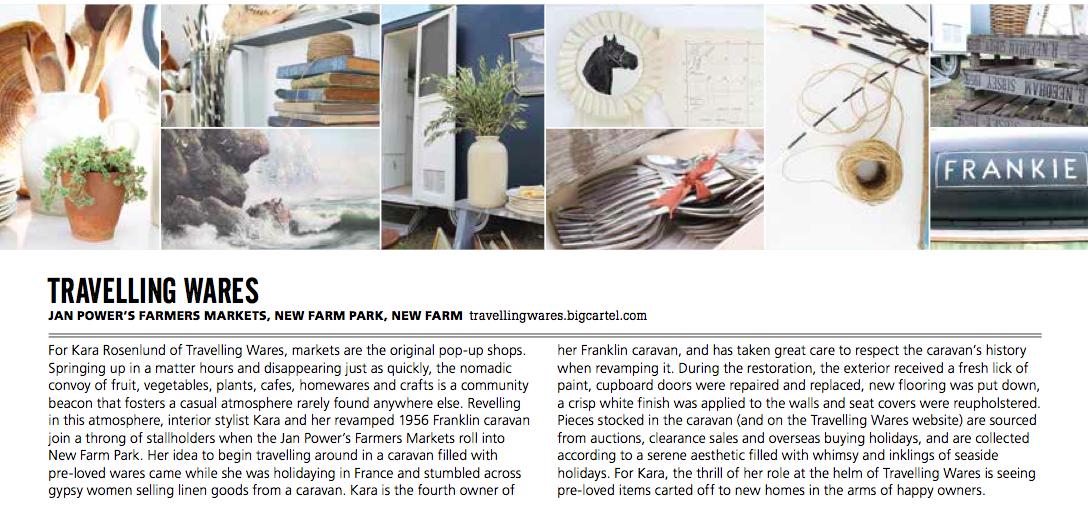 Kara Rosenlund's Travelling Wares by Melinda Halloran, freelance writer and editor, Brisbane, Australia.