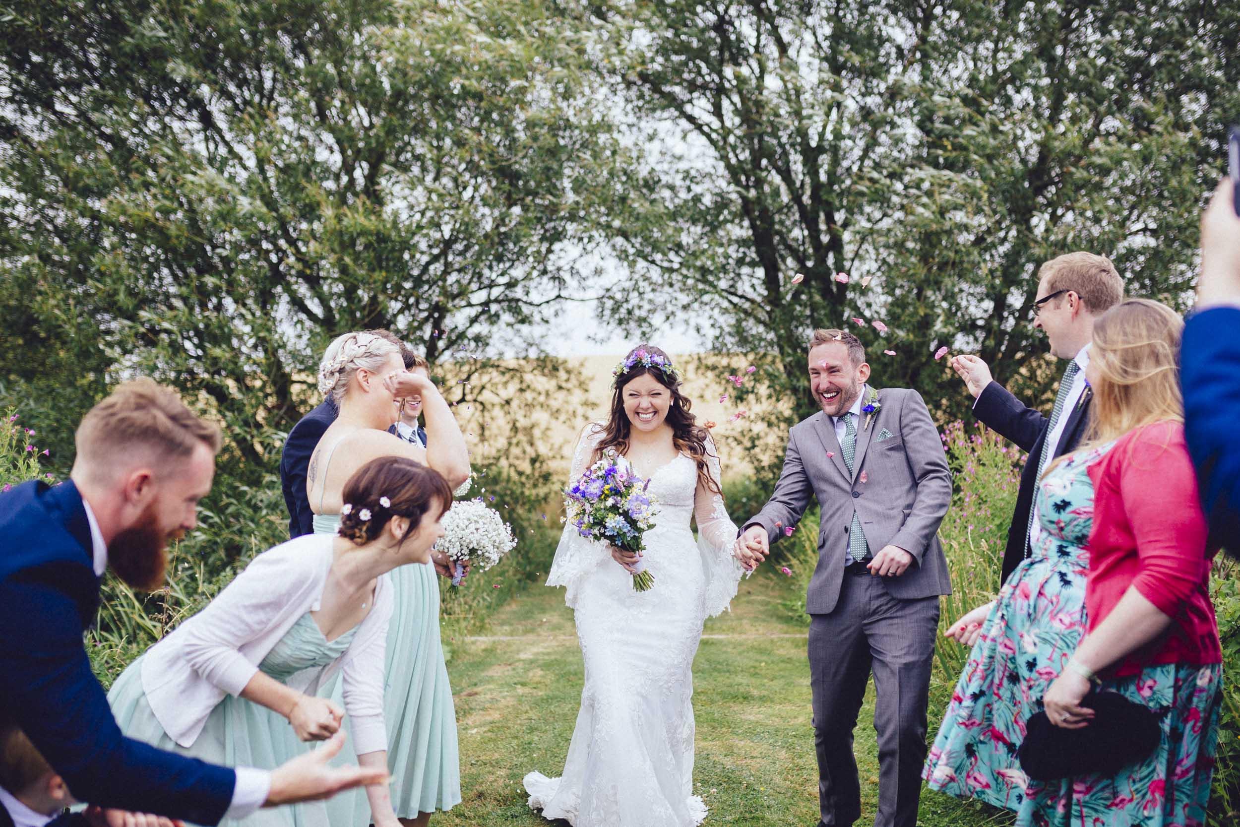 20Curious Rose Wedding Photography- Laura Rhodes- Newton Park Farm- Birmingham Artistic wedding photography- confetti bride and groom.jpg