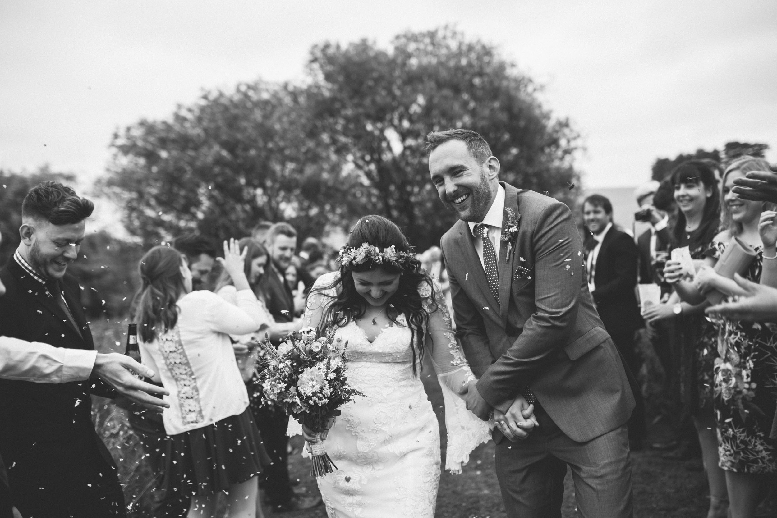 21Curious Rose Wedding Photography- Laura Rhodes- Newton Park Farm- Birmingham Artistic wedding photography- confetti- bride and groom.jpg