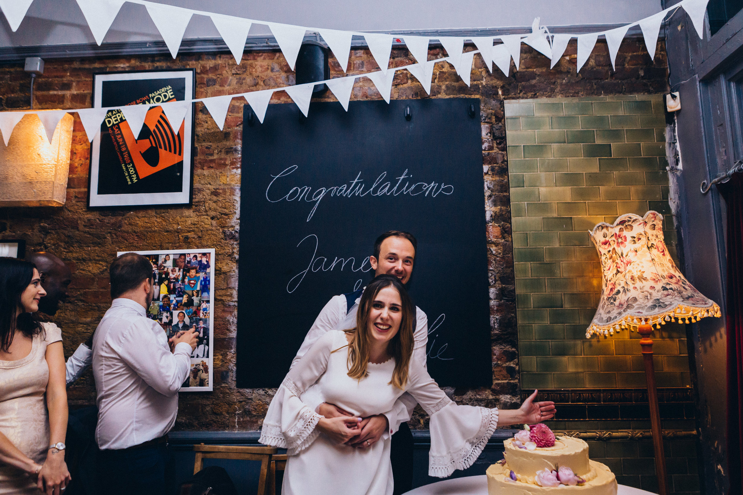 CHARLIE & JAMES - FUNKY EAST LONDON PUB WEDDING | STOKE NEWINGTON
