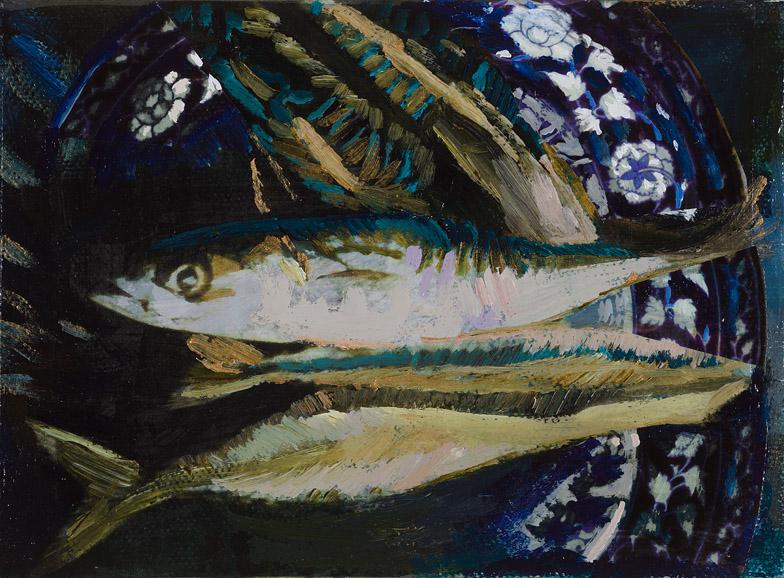 Mackerel on a Blue Platter