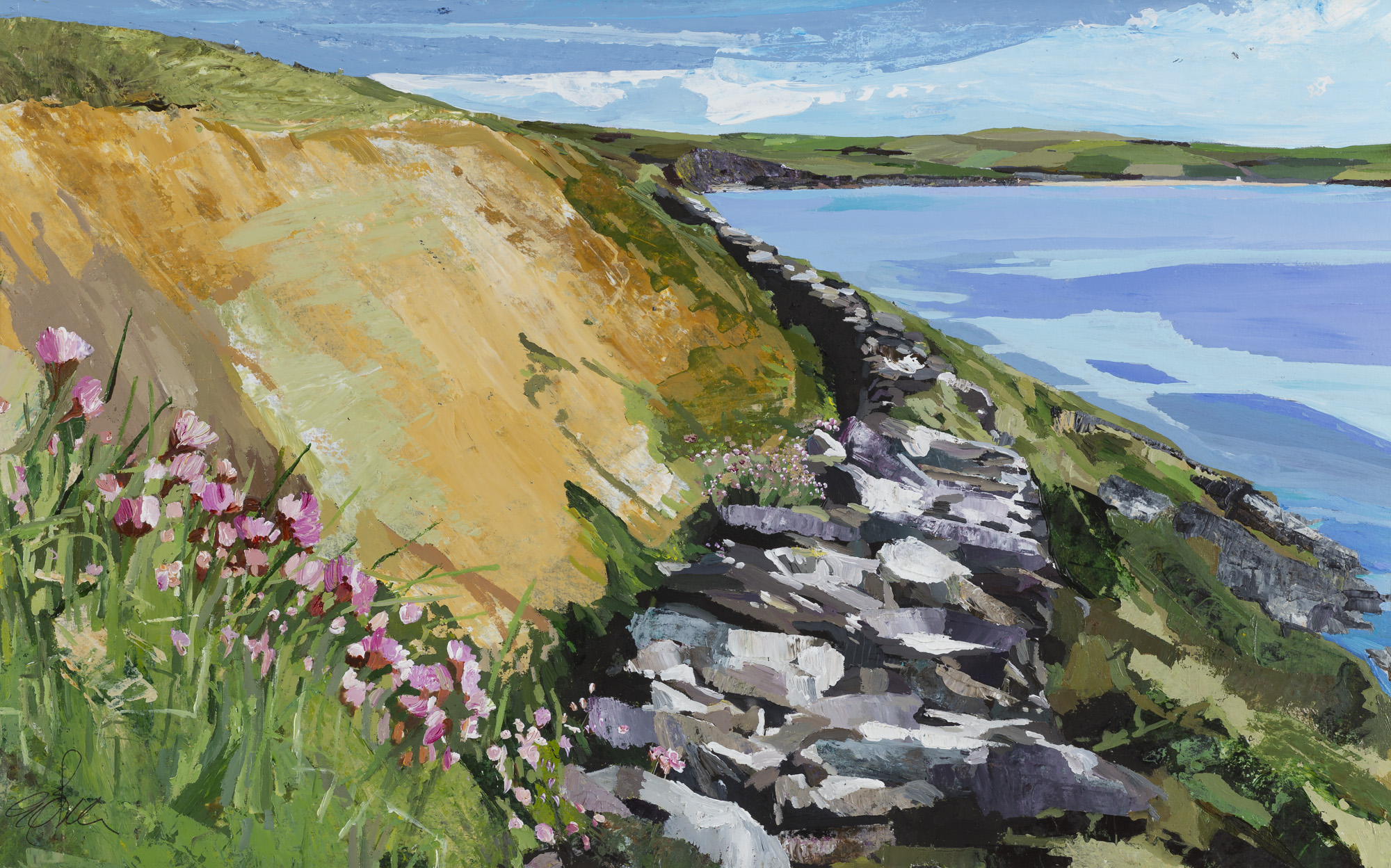 Looking Towards the Red Strand from Dundeady 60x78cm