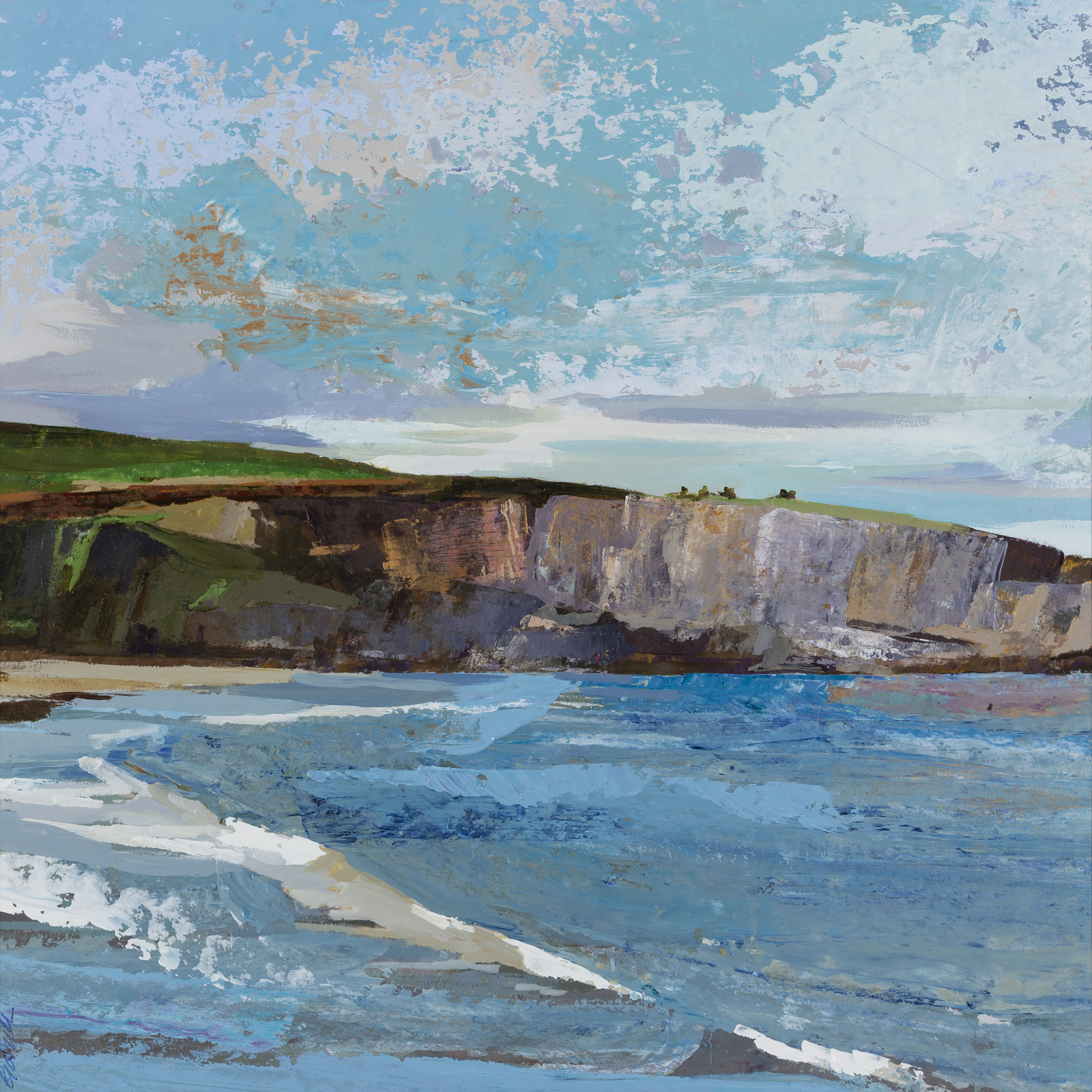 Duneen Strand Cliff Face Late Evening, 55x54.jpg