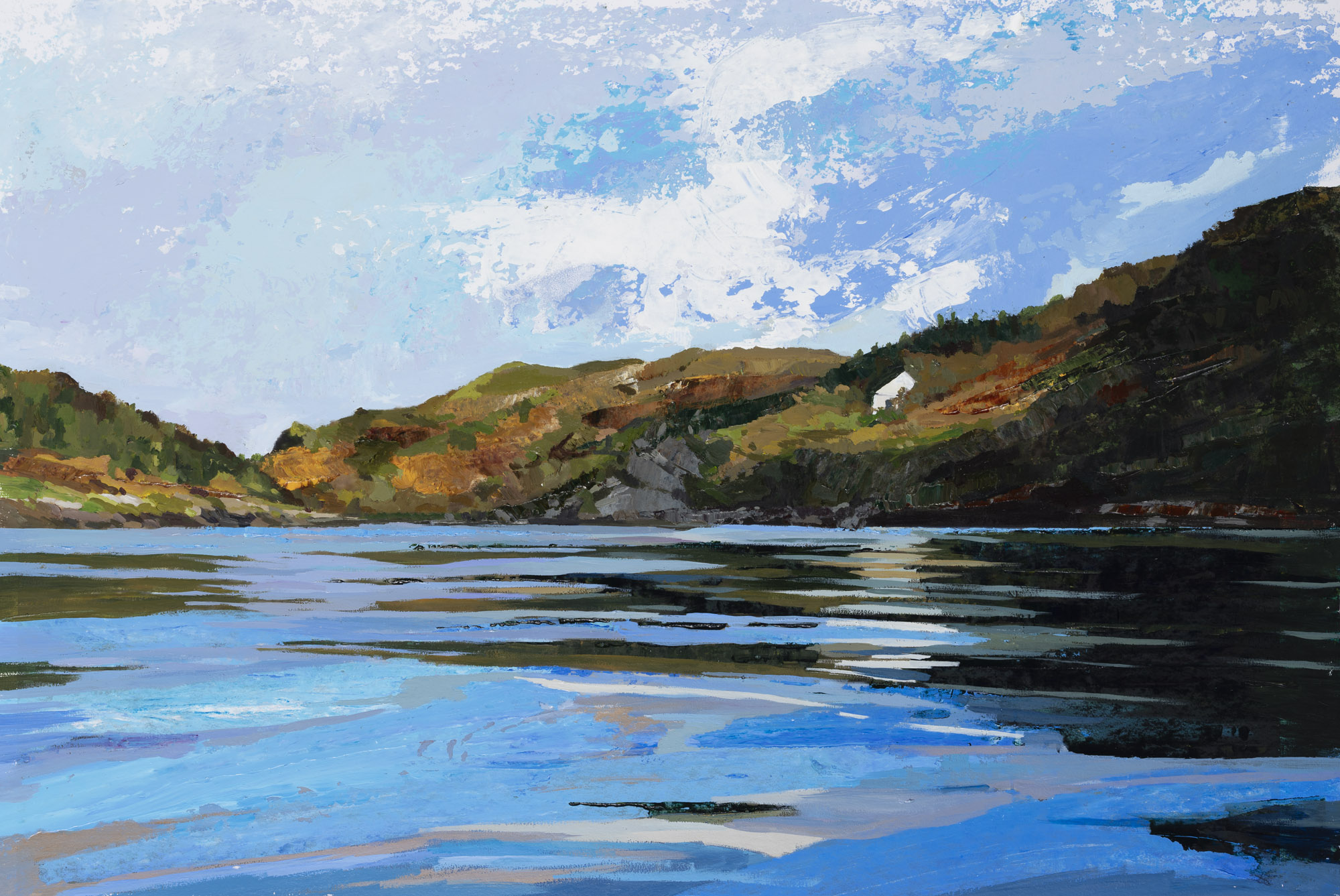 Barlogue Creek, Lough Hyne_ acrylic on paper, 60x78cm framed (preview size).jpg