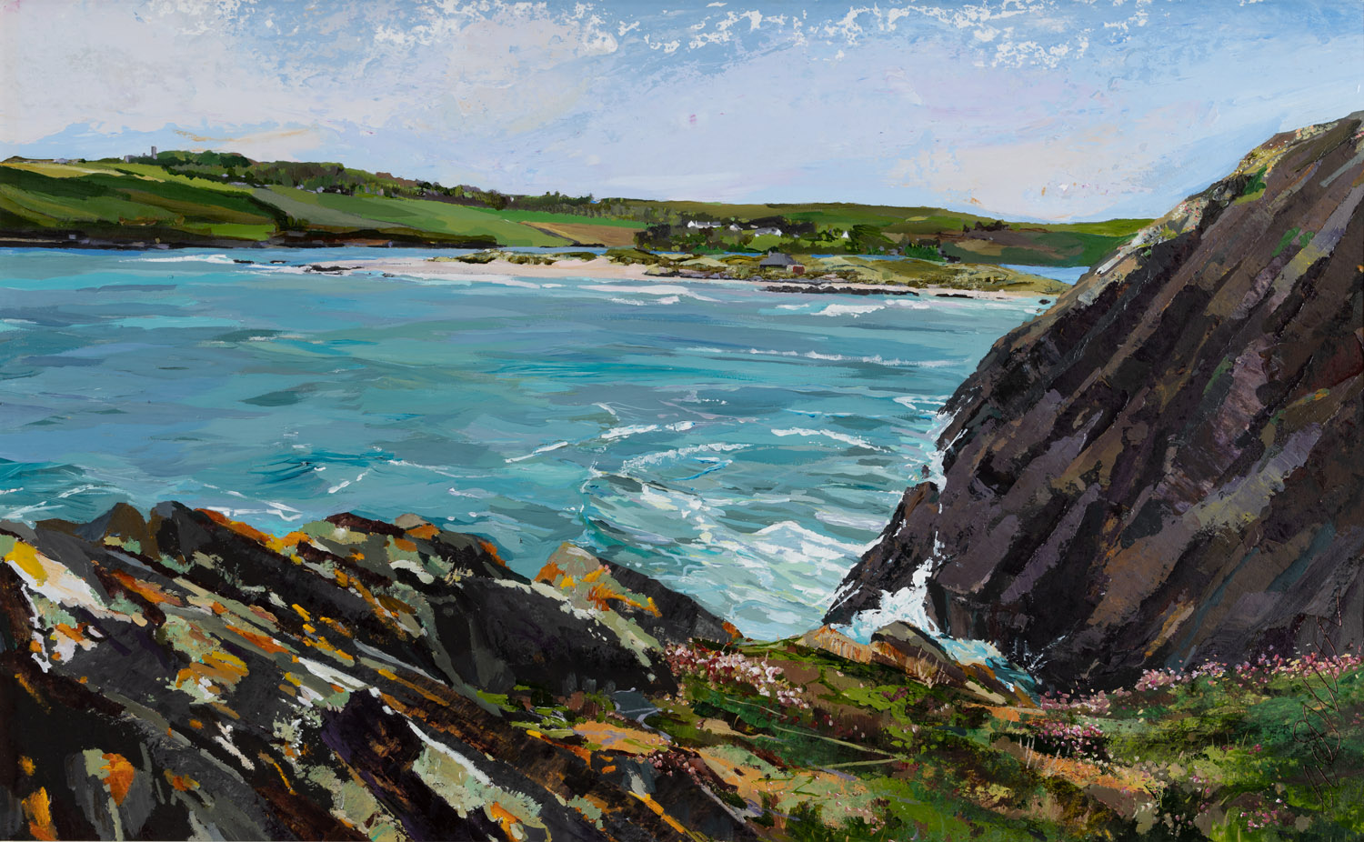Looking back to the Warren from the Cliff Walk, 60x78cm.jpg